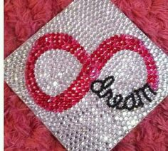 It has become a tradition at many colleges and even some high schools to decorate your graduation cap! Check out these 20 crazy awesome graduation cap ideas! From total bling to cute quotes get some inspiration here! Graduation 2016, Graduation Cap Designs, Graduation Cap Decoration, Graduation Celebration, Graduation Pictures, Graduation Gifts, Grad Hat, Cap Decorations, To Infinity And Beyond