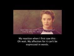 Sameise the brave. I want to hear more about Sam. I has been WAAAAAAAAAAAAAAAY too freaking long since I watched the movie