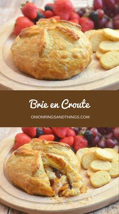 Brie En Croute is an elegant and impressive holiday centerpiece you can make easily and deliciously. With a rich and creamy brie cheese encased in a light, airy, and golden flaky crust, your guests would be lining up for seconds! #ad #InspiredbyPuff @PFPuffPastry