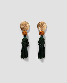 ZARA - WOMAN - METAL EARRINGS WITH TASSELS