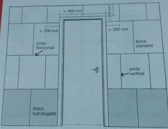 Detalhe da vedação com porta aplicada sem a utilização de verga