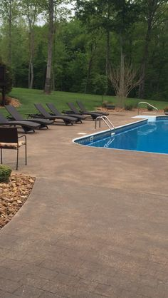 Best Colors For A Cement Pool Deck Google Search Outdoor In 2019 Pool Decks Concrete Pool Concrete Deck
