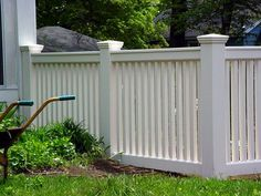 New England Woodworkers, Custom Fence Company for Picket Fences, Privacy Fences… Front Yard Fence, Fence Gate, Fence Design, Garden Design, Diy Privacy Fence, Lattice Fence, Backyard Pergola, Pergola Kits, Fence Landscaping