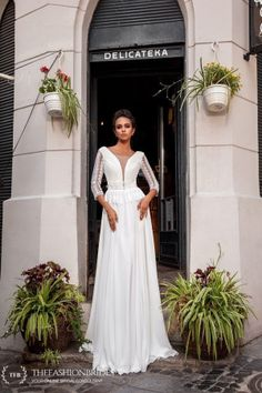 KiraNova 2020 Spring Bridal Collection – The FashionBrides Gowns With Sleeves, Bridal Collection, Wedding Gowns, White Dress, Spring, Dresses, Fashion, Wedding Frocks, Vestidos