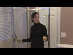 Housekeeping Tips : How to Remove Hard Water Stains on Glass Shower Doors - YouTube