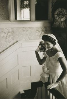 Jackie Kennedy - ready to throw bouquet - a lady who knew what true class was ...