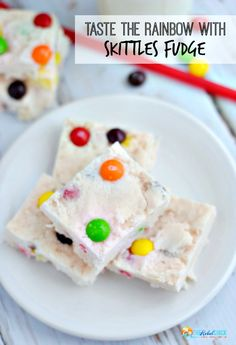 Taste the rainbow with easy Skittles Fudge