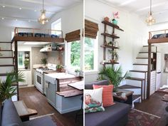 Artisan Retreat is a beautiful tiny house built by Handcrafted Movement. This tiny house was designed and built by Matthew Impola in Battle Ground, Washington. Matthew's years of experience and love for his craft are on display in this custom built tiny house. His attention to detail and unique touches blend form and function perfectly. … Artisan Retreat by Handcrafted MovementRead More »