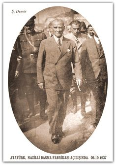 Atatürk Aydın Nazilli basma Fabrikası açılışı. 09.10.1037