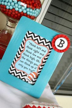 Dr Seuss 1st Birthday Ideas | Two Dr Seuss Themed Birthday Party for twins via Kara's Party Ideas ...
