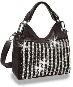 Crystal Rhinestone Black Fashion Handbag Purse Sparklebags