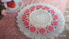 Crochet Bedspread Pattern, Free Crochet Doily Patterns, Crochet Stitches, Crochet Doily Diagram, Tatting Patterns, Crochet Dollies, Crochet Tablecloth, Lace Doilies, Crochet Home