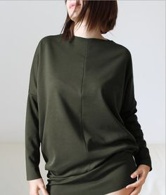 Women sweatshirt black sweatshirt tunic sweatshirt blouse cotton ...