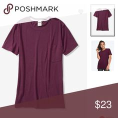 0354621f7a8 NIP-PINK Campus Crew Tee New in online pkg Oversized fit Measures 21