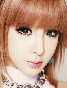 Park Bom, I really love her makeup in this picture.