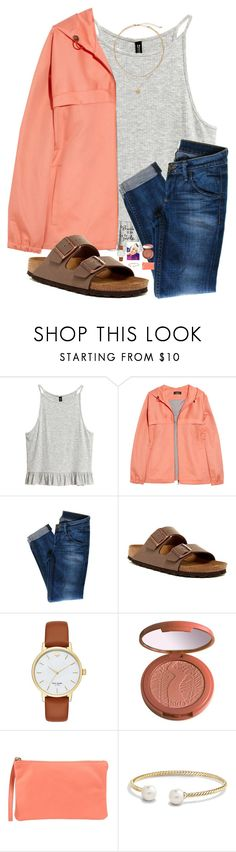 """""""Rtdp"""" by kolbee24 ❤ liked on Polyvore featuring beauty, A.P.C., Hudson Jeans, Birkenstock, Kate Spade, tarte, 3 Chic, WALL and David Yurman"""