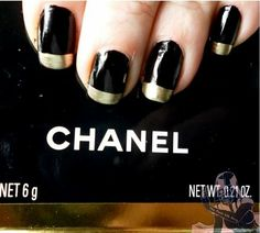 Chanel Inspired Manicure