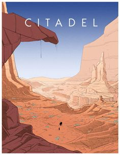 Citadel Comicbook by Cosimo Galluzzi Landscape Drawings, Landscape Art, Landscapes, Storyboard, Ligne Claire, Cartoon Background, Environment Design, Environmental Art, Aesthetic Art