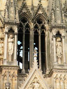 détail de la cathédrale de Reims
