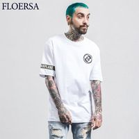 FLOERSA New 2017 Mens T shirt Printed Summer T shirt Men Cotton Fashion T shirts Short Sleeve Men Tee Shirt Homme #A55125