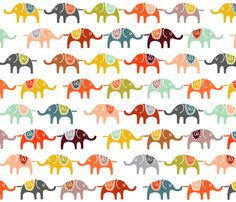 elephant march fabric by endemic on Spoonflower - custom fabric