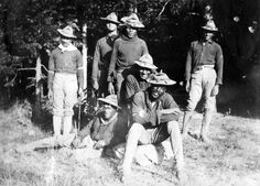 Buffalo Soldiers from Company H, 24th Infantry Regiment, 1899. America's Buffalo Soldiers (African-American regiments of the U.S. Army forme...