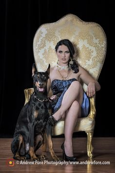 Hollywood Glam photo featuring don't mess with a Dobermans girl! #dobermans #geenalucillekelly #geenalucille