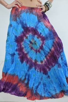 Sukně | Sukně AYA batikovaná, 99 cm, | Syluska.cz- orient móda