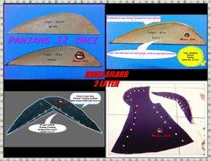 Inner silang Sewing Tutorials, Sewing Projects, Sewing Patterns, Tudung Shawl, Diy Clothes Tutorial, Pattern Design, Free Pattern, Abaya Pattern, Islamic Clothing