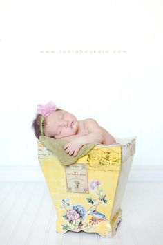 Baby in flower pot for spring newborn-You can pick any color flower pot