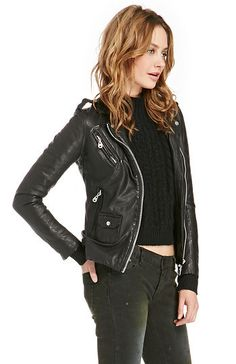 NWT~DOMA~Multi Pocket Black Leather Biker Jacket~Moto~M~$778 *SOLD OUT ONLINE* #DOMA #Motorcycle