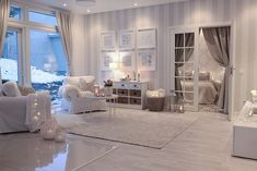 Thuesday afternoon I really like this open space at my home Tänään Interior Design Living Room, Living Room Designs, Living Room Decor, Bedroom Decor, Striped Wallpaper Living Room, Beautiful Living Rooms, My New Room, House Design, Plaid Curtains