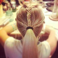 3  braid to pony tail