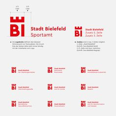 The German city of Bielefeld got a new logo and identity. Cera Pro is part of the new brand and can be seen hard at work everywhere: from logo, to the headlines Destination Branding, City Branding, Logo Branding, Corporate Branding, Brand Identity Design, Corporate Design, Branding Design, Government Logo, Brand Architecture