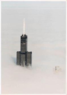 Sears Tower above the clouds, Chicago, Illinois. Chicago Travel, Chicago City, Chicago Skyline, Chicago Area, Chicago Illinois, Al Capone, Chicago Attractions, Chicago Restaurants, Milwaukee City