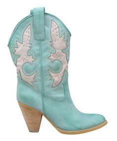 Take a look at this Aqua Blue Rio Grande Cowboy Boot by Very Volatile on #zulily today!