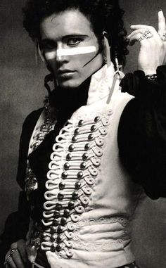 """Adam Ant of """"Adam and the Ants"""" - 1980 New Romantic movement. from """"Kings of the Wild Frontier"""" Adam Ant, Pop Punk, Glam Rock, Ant Music, Dark Romance, Musica Pop, We Will Rock You, New Romantics, Muse"""