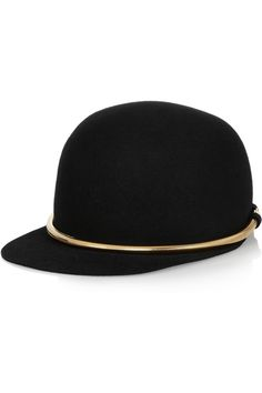 Lanvin|Chain-embellished felt cap