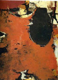 Painting No II - Richard Diebenkorn Richard Diebenkorn, Tachisme, Bay Area Figurative Movement, Robert Motherwell, Picasso Paintings, Joan Mitchell, Ouvrages D'art, Modern Art Paintings, Camille Pissarro