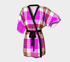 "Kimono+Robe+""TARTAN+9008""+by+THE+GRIFFIN+PASSANT+STREETWEAR"