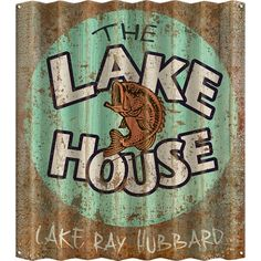 Lake House Signs, Cabin Signs, Lake Signs, Beach Signs, Corrigated Metal, Metal Signs, Wood Signs, Vintage Cabin, Lake Decor