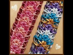 "New ""Summer Crown"" Rainbow Loom Bracelet/How To Tutorial - YouTube"