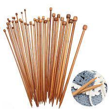36pcs Aiguilles à tricoter En Bambou Tricot Laine Pull 2mm-10mm Longueur 35CM