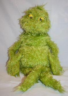 "Plush Grinch Stuffed Manhattan Toy Christmas 2001 Dr Seuss 14"" How The Stole"