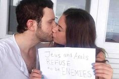 """The Look of Love: When Sulome Anderson put a selfie of herself smooching her boyfriend on the Internet, it joined zillions of other PDA portraits in a realm of self-exposition that makes prudes prickly—but the post had a purpose. The image of the kiss shared by the Lebanese American journalist and her Jewish boyfriend went viral and spread their pacifist message—""""Jews and Arabs REFUSE to be ENEMIES""""—all over the world. If anyone understands that there's a deeper intrinsic importance to ..."""