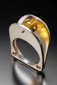 Citrine Sphere Ring Jewelry by Ivan Sagel