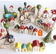 Miniature ceramic houses – little houses – Ceramic Clay Houses, Ceramic Houses, Miniature Houses, Clay Projects, Clay Crafts, Felt Crafts, Ceramic Pottery, Ceramic Art, Cerámica Ideas