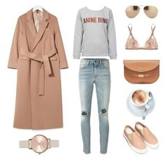 Untitled #547 by fashionlandscape on Polyvore featuring polyvore, fashion, style, Anine Bing, Topshop, Yves Saint Laurent, Carine Gilson, Vans, Chloé, Linda Farrow, women's clothing, women's fashion, women, female, woman, misses and juniors