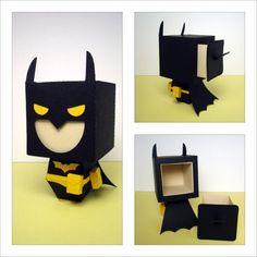 Batman Inspired Gift Box by scissorsandclay on Etsy, $5.25