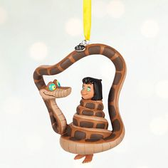 Disney Store 2016 Mowgli & Kaa Sketchbook Christmas Ornament New with Tags